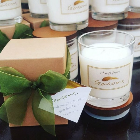 candle bomboniere